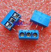 50PCS KF301-3P 5.08mm 3 Pin Connect Terminal Screw Terminal Connector J8