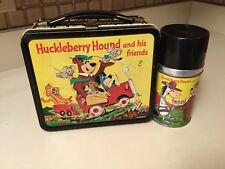 Vintage 1961 Huckleberry Hound~Quick Draw McGraw & Friends-Lunch Box and Thermos