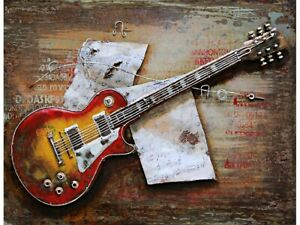 "Metall - Wandbild ""E-Gitarre Fender"""