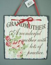Vintage Style Slate hanging Wall plaque Sign Grandmother A wonderful mother