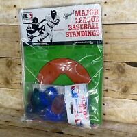 Vintage MLB 1984 Major League Baseball Mini Helmets Standings Card New Old Stock