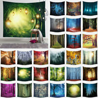 Psychedelic Forest Tapestry Hippie Art Wall Hanging Throw Home Decor Tapestries