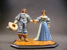 figurine d'art en plomb VANOT Louis XIII et Anne d'Autriche fine peinture