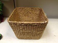 Hyacinth Woven Seagrass Toy Storage Organizer Bath Kitchen Basket 13x13x10