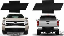 All Sales Front & Rear 2007-2013 Chevy Silverado 1500 Black Billet Bowties New