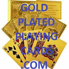 Gold Plated Playing Cards Domain Name Online Business Goldplatedplayingcardscom
