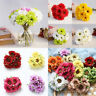 6 Heads Artificial Silk Gerbera Daisy Fake Flower Bouquet Wedding  Home Decor
