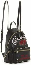 NEW GUESS Women's Urban Sport Rose Embroidered Studded Black Small Backpack