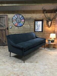 Arlo & Jacob Matilda Grey 3-4str sofa retro danish 60s 70s modernist oak black
