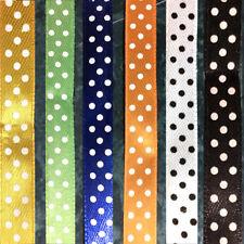 3 yds 10mm Satin Ribbon Dot Spot scrapbook sewing craft single sided sewing #900