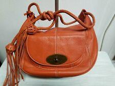 MULBERRY ARALINE ORANGE TASSLE SHOULDER BAG