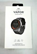 Misfit Vapor Smartwatch 44mm Stainless Steel Case - Black Silicone Band - New!