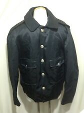 Mens 40R Jacket Blauer Bomber Uniform Police Fire Navy Blue Adjust Waist (hu)