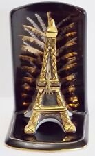 Limoges Eiffel Tower On Stand Millennium Trinket Box Black Gold Porcelain Ltd Ed