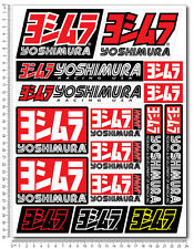 Yoshimura autocollant set 24x32cm feuille 16 stickers Décalques suzuki GSXR HONDA
