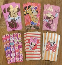12 Pc Disney Mickey Mouse Minnie Chinese New Year Red Foil Envelopes Lunar Money