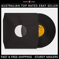 "25 X Record Inner Sleeves – Paper & Poly Lined – Black for 12"" Vinyl LP's"