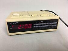 Vintage Sony Dream Machine Model ICF-C2W Digital FM/AM Alarm Clock Radio Beige