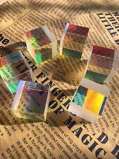 8PCS 25mm Combiner Splitter Cross Dichroic RGB X-Cube Optical Glass Prism ForDIY