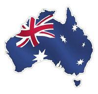 AUSTRALIA MAP W/ FLAG DECAL STICKER PATRIOTIC AUSTRALIANA AUSSIE DECALS STICKERS