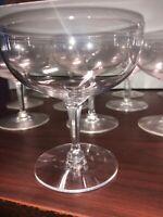 Imperial Etiquette: Cut Stem Champagne Sherbet Coupe Glasses (12 Pcs)