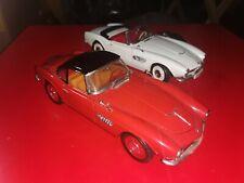 BMW 507 Revell 1/18 lotto 2 modelli perfetti senza scatola rosso hard top