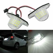 Perfect Fit White 18-LED License Plate Light Lamps For Honda Civic Fit CR-V, etc