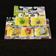5 Angry Birds Figures with Power Cards Replacement Red Space Ice Blue Green Pig