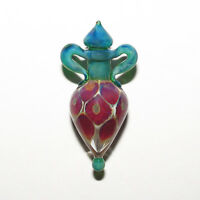 "1 beautiful lampwork art glass ""julia"" amphora focal pendant leah nietz #48c"