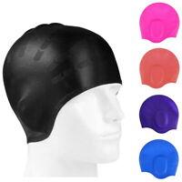 Swimming Cap Waterproof Silicone Swim Pool Hat for Adult Women Men Long Hair Hat