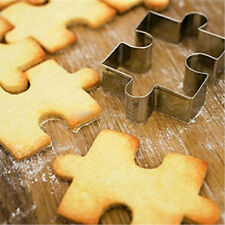 1Pcs Stainless Steel Cake Cookie Puzzle Shape Cookie Cutter Mold Cookie s A-