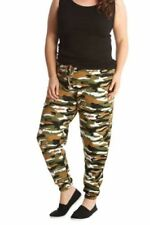 Polyester Army Loose Fit Trousers for Women