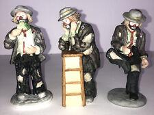 Vintage Emmett Kelly Jr. Flambro Minature Collection Clown Figurines