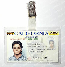 Back To The Future Marty Mcfly ID Badge Drivers License Prop Cosplay Comic Con