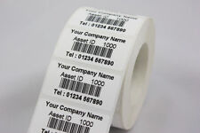 ROTOLO 500 PERSONALIZZATO CODICE A BARRE etichette cespiti 40 x 24 mm ADESIVI (PAT test)