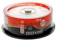maxell CD-R acoustique Vierge Cdr XL-II 80 Paquet de 25 MUSIQUE AUDIO CD NOUVEAU
