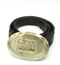 Vintage CAT DIESEL POWER Caterpillar Belt Buckle & Belt Licensed Wisconsin USA