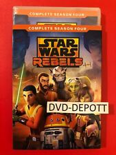 Star Wars Rebels Season 4 Four fouth DVD & Slipcover **AUTHENTIC READ** New!