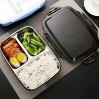 Stainless Steel Lunch Box Picnic Office School Food Container Microwavable New
