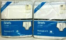 Lot of TWO Sears Combed Cotton Briefs 3-packs Size 38 NEW in Package