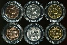 THAILAND SET 3 COIN YEAR SNAKE ZODIAC PLATED SILVER 2013 UNC