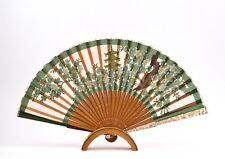An Antique Mother Of Pearl Handled Hand Fan