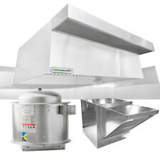 """HoodMart 12'x48"""" Type 1 Commerical Kitchen Hood System w/ PSP Makeup Air"""