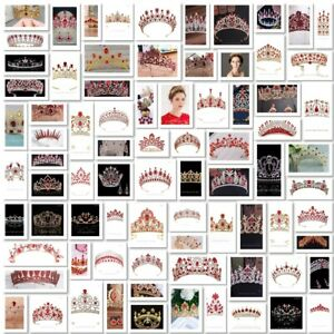 87 Styles Red Crystal Queen Princess Tiara Crown Combs Wedding Party Pageant