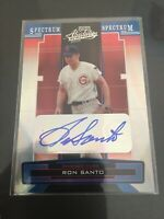 2005 Playoff Absolute Ron Santo Autograph /142 Chicago Cubs Silver Spectrum SP