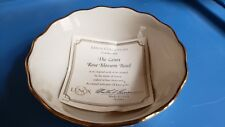 The Lenox Rose Blossom Bowl China with Gold Ring (Certified)