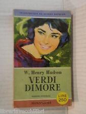 VERDI DIMORE W Henry Hudson Mondadori I libri del pavone 163 1958 romanzo libro