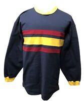 Vintage Tommy Hilfiger Mens XL Long Sleeve Striped Color-block Shirt Sweatshirt