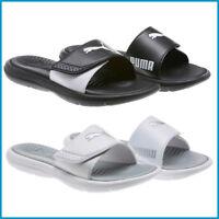 NEW Puma Women Ladies' Slide Sandal, Black / White, PICK SIZE&COLOR