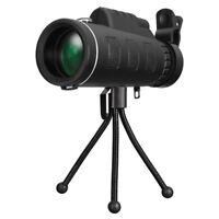 40X60 Zoom Optical HD Lens Monocular Telescope+ Tripod+ Clip Day & Night Vision